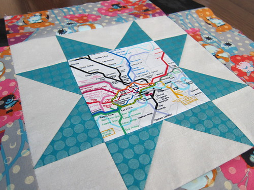 Hand Pieced Sawtooth Star
