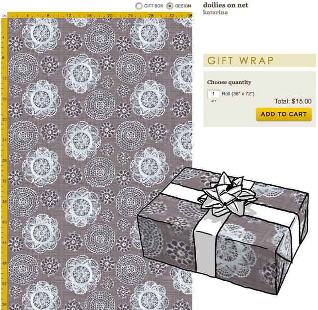 doilies gift wrap