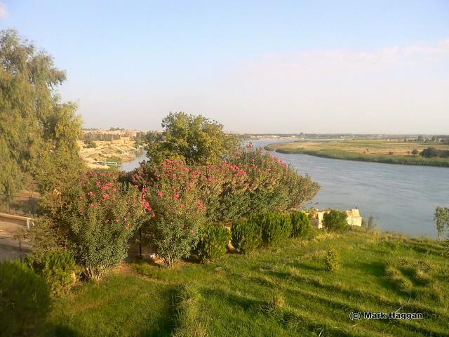 The Euphrates river from Deir Ez-Zor, Syria