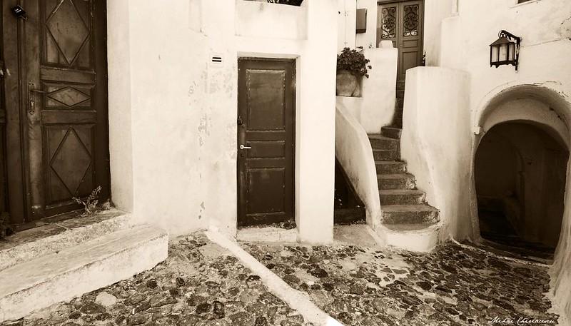 Santorini old streets