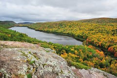 A rainy day at Lake of the Clouds Porcupine Mountains State Park by Michigan Nut