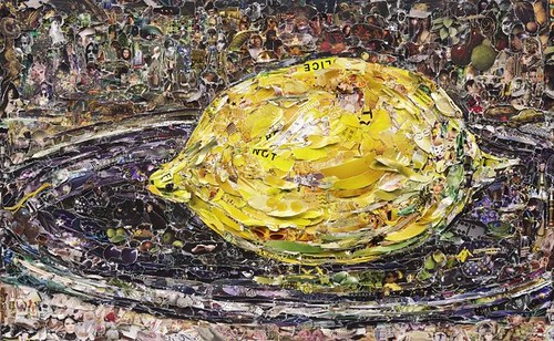 Vik Muniz, The Lemon, after Manet, 2011