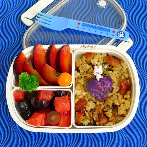 Sticky Rice Lup Cheong Bento by sherimiya ♥