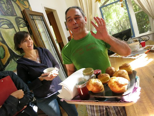 David Diaz interrupting our Lost Weekend process demos with his heavenly homemade popovers