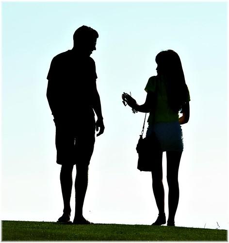 [フリー画像素材] 人物, カップル, 人物 - 後ろ姿, シルエット ID:201211261200