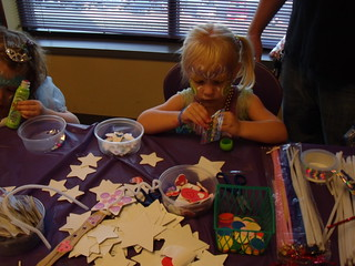 Kaitlyn age 3 making a craft - 07-17-10