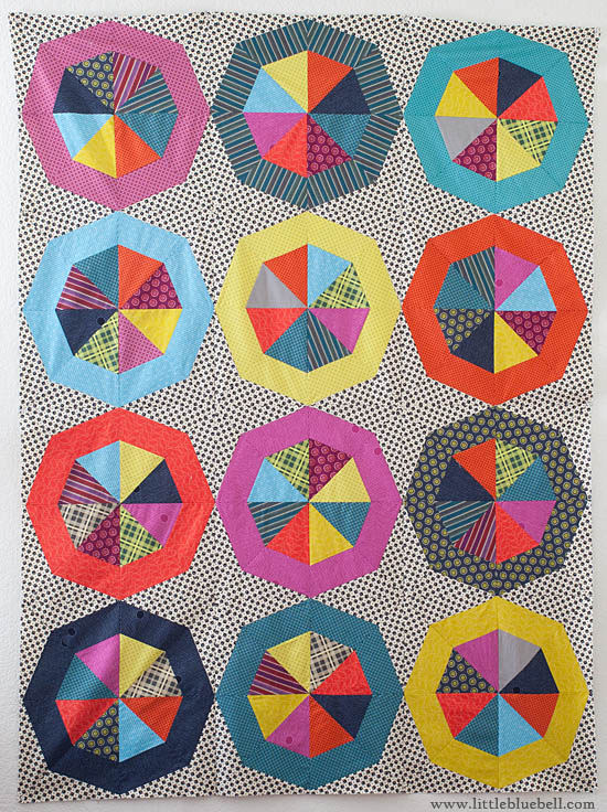 Spinning Stars, A Quilt Top