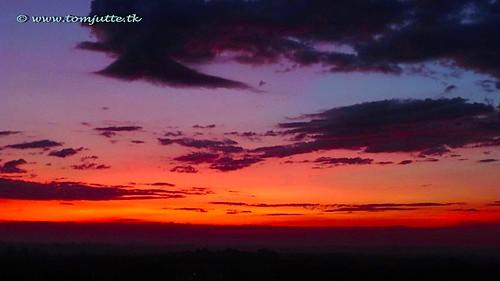 travel sunset red sky cloud sun holland color colour nature netherlands dutch look clouds zonsondergang europe skies view apartment air natuur wolken sunsets scene panasonic sunrises lucht zon zeist the webshots at tz5