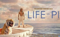 [Poster for Life of Pi with Life of Pi, Ang Lee, Irrfan Khan, Tabu, Suraj Sharma]