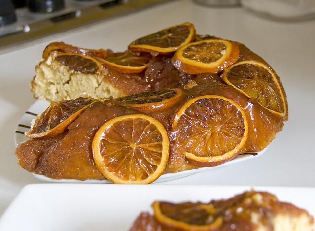 Plumcake tatín de naranja sanguina