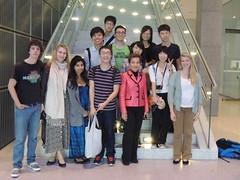 YOUNGO青年和UNFCCC大會秘書長Christina Figueres合照,台灣青年氣候聯盟提供
