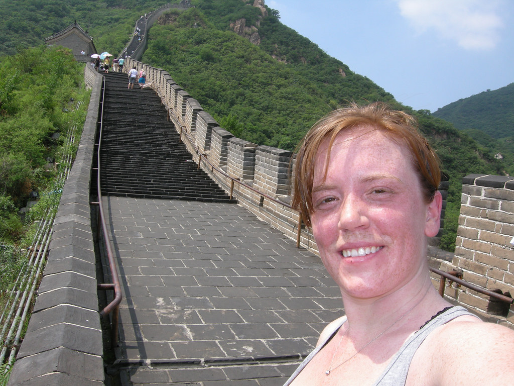 One of my top five hottest days of my life - climbing the Great Wall while accompanying the Jonathan Griffith Singers during its 2009 tour of China