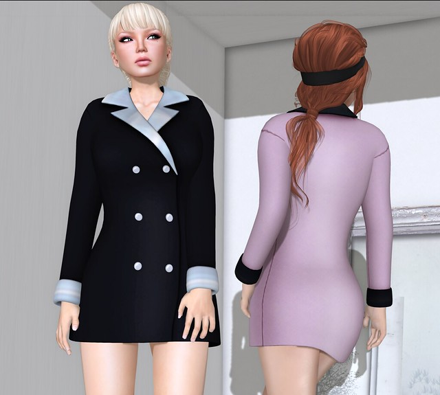 E! Eclectic Apparel-Tuxedo dress