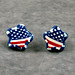 Patriotic Star Flag Earrings 3 DSC03967