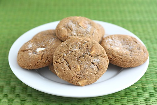 ginger-white-chocolate-chunk-cookies