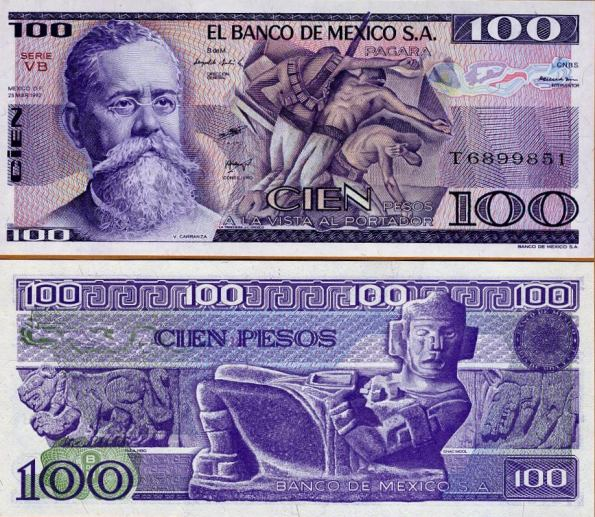 100 Pesos Mexiko 1981-2, Pick 74