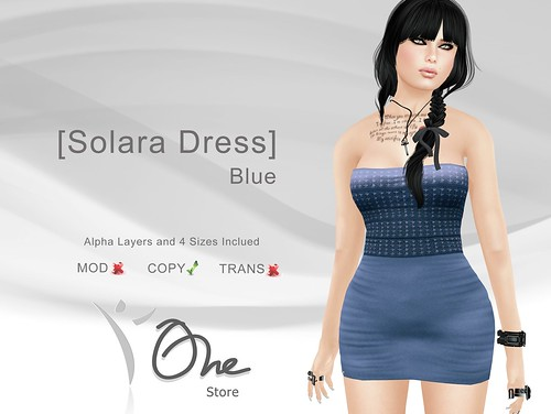 [Solara Dress] Blue