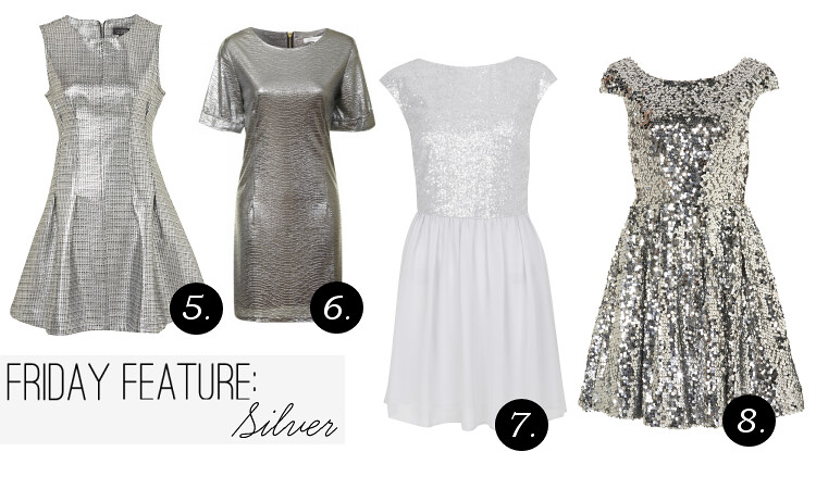 Sequin Skater Dress Topshop