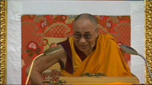 Laughing, His Holiness the Great 13th Dalai Lama teaching, 18 Great Stages of the Path Commentaries, webcast, Dharamasala, India by Wonderlane