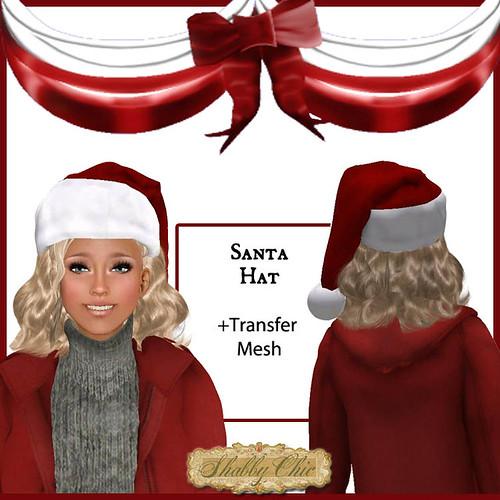 Shabby Chic Santa Hat by Shabby Chics