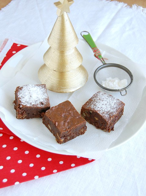 Fruit mince brownies / Brownies de fruit mince