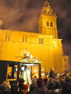 """Iglesia de los Santos Juanes, conocida popularmente como la """"Giralda de Castilla""""."""
