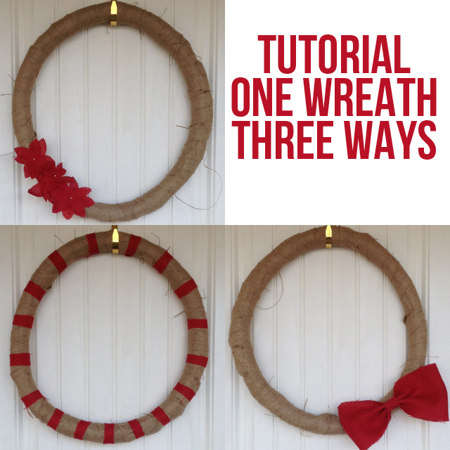 DIY Burlap Wreath 3 Ways