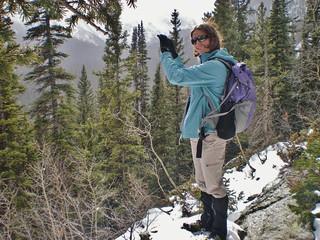 Erin Taking a Photo in James Peak Wilderness