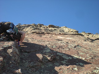 Clare Starting Pitch 2 of East Face Direct Route