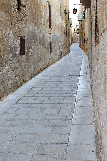 Stone streets of Mdina, Malta