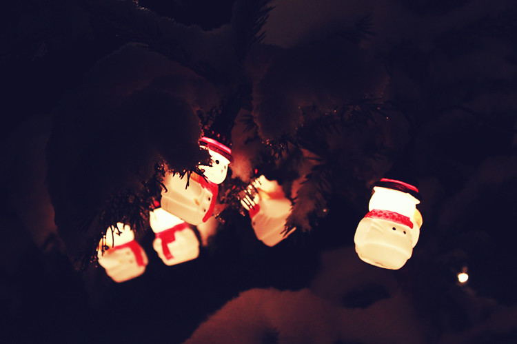 snowman christmas lights