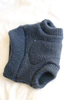 upcycled wool cloth diaper soaker