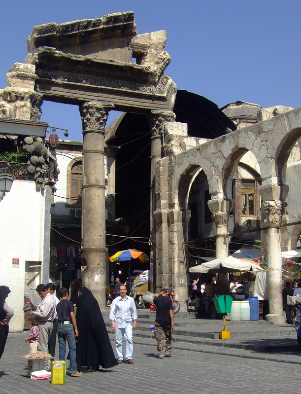 Roman gate near Umayyad Mosque, Damascus, Syria