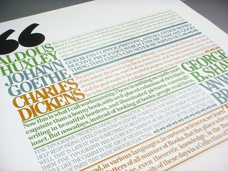 Lubalin poster set, print #6: Quotations poster