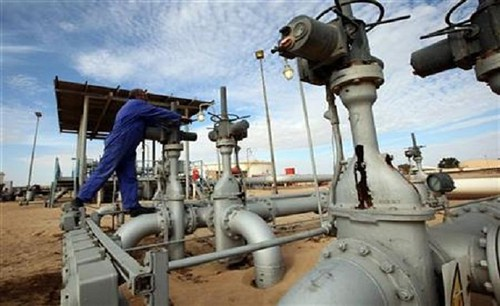 Amaal oil fields in east Libya. The privatization of the industry is taking place after the counter-revolution against Col. Muammar Gaddafi. by Pan-African News Wire File Photos