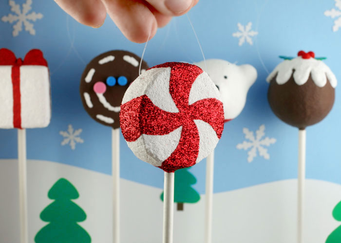 Peppermint Cake Pop Ornament