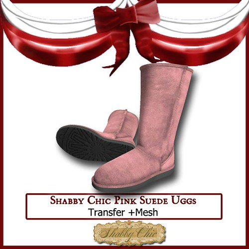 Shabby Chic Pink Suede Ugg by Shabby Chics