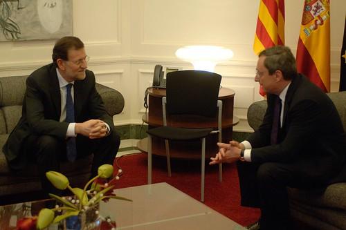 Mariano Rajoy con Mario Draghi