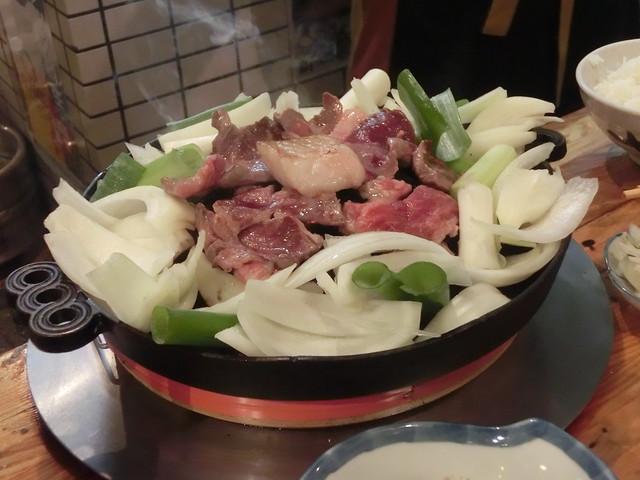 "In our popular ""DARUMA"" Jingisukan Barbecue Restaurant (Sapporo, Hokkaido, Japan)"