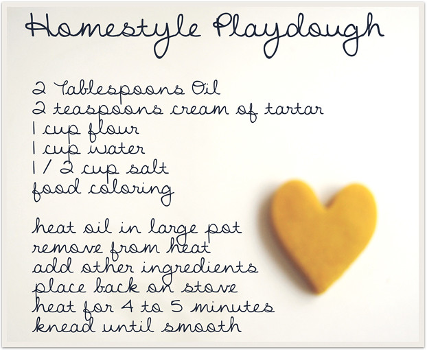 playdough recipe card