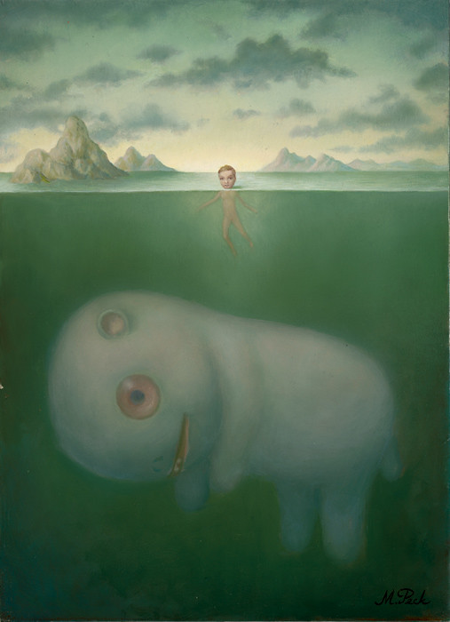 Marion Peck, Leviathan, Oil on panel, 2004