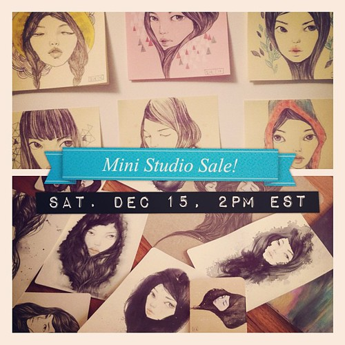 {{ 2nd/Mini Studio Sale }} this Saturday, December 15th, 2PM eastern time!