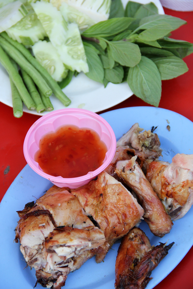 Grilled Chicken (gai yang ไก่ย่าง) at Central World street food stalls