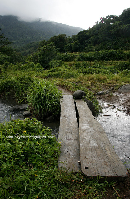 Makeshift bridges to Kabigan Falls Pagudpud Ilocos Norte