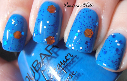 Frankenstine Polish Hey, McFly over Nubar Hot Blue 1