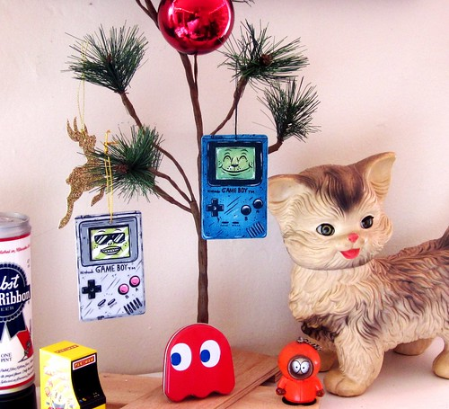 Colored Game Boy ornament