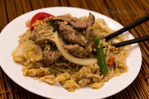 Spicy Basil Fried Rice with Beef from Red Orchid