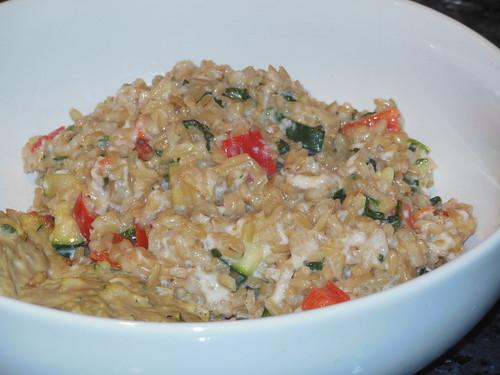 cheesy brown rice and veggies