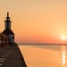 Sunset at South Haven Light House by Kathy~