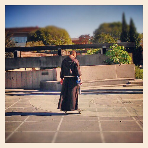 You know you are in #california when... #UCSB #catholic #church #funny #skateboard